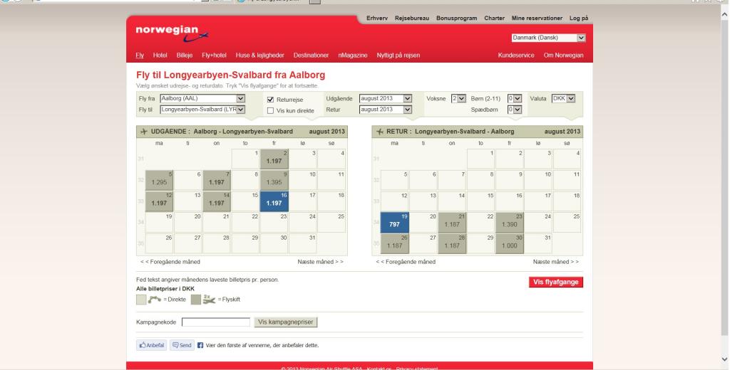 Billige flybilletter Aalborg Svalbard